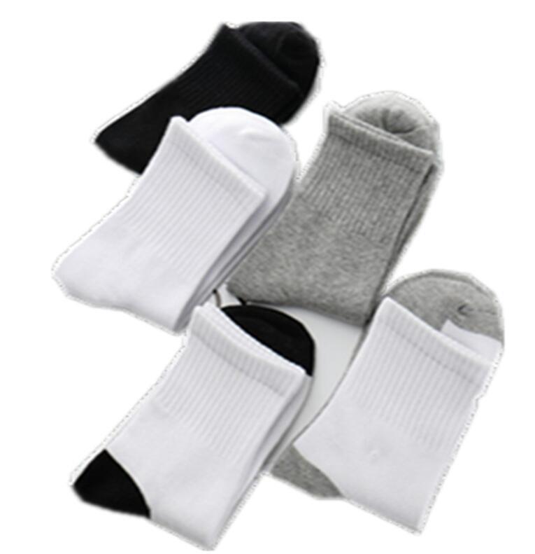 Medias de algodón suaves transpirables para niños, calcetines deportivos absorbentes del sudor para niños y niñas, calcetines para escuela, calcetines grises y negros blancos para estudiantes, 4 pares