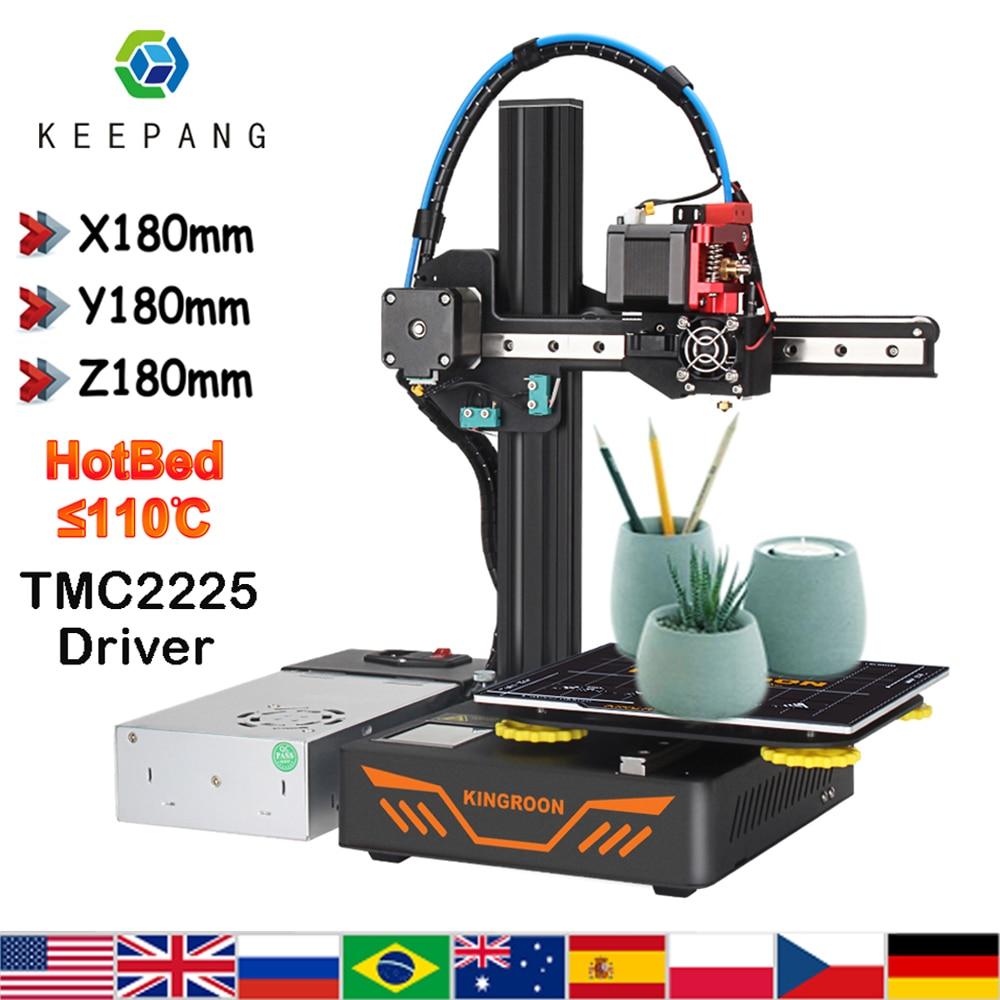 Kp3s atualização impressora 3d alumínio currículo impressora de alta precisão tela sensível ao toque diy kit impressora 3d impressão 180x180x180mm