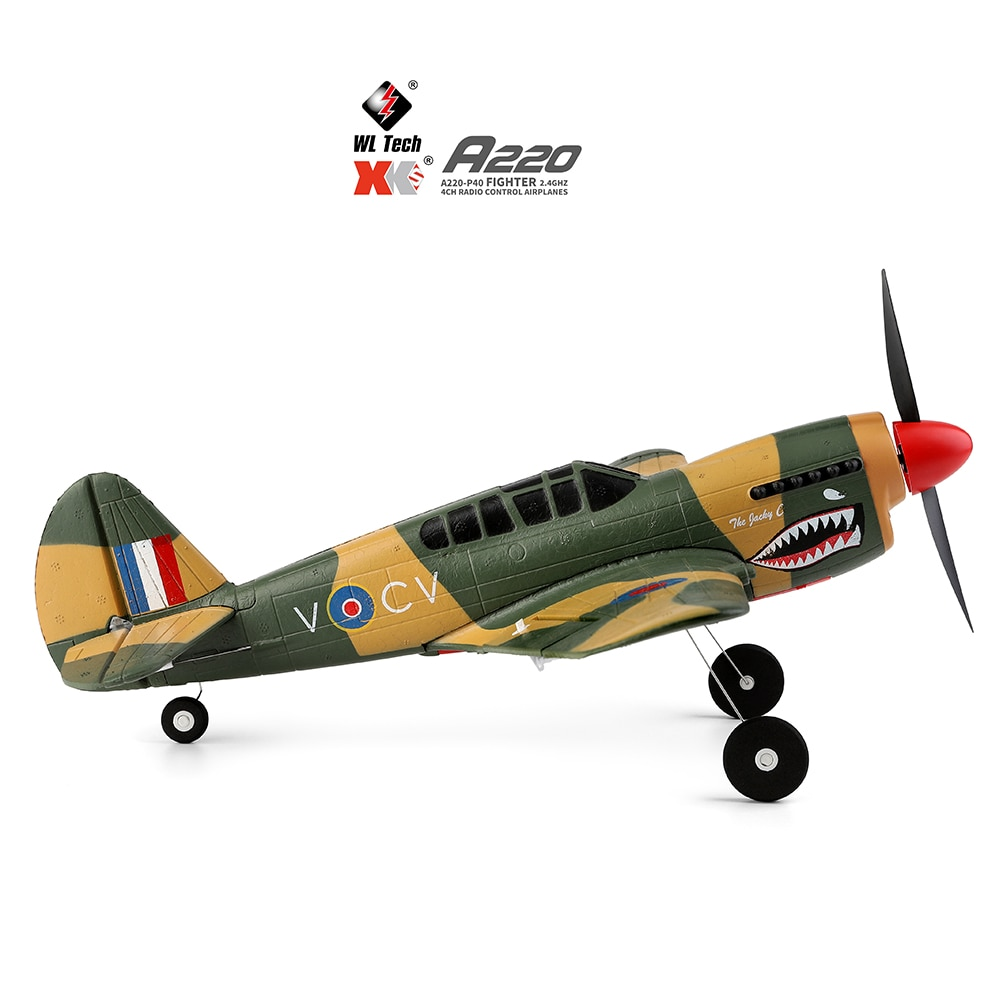 2021 NEW WLtoys A220 Four-Channel Like Real Machine P40 Fighter Remote Control Glider Unmanned Airplanes Model Outdoor Toy Gift enlarge
