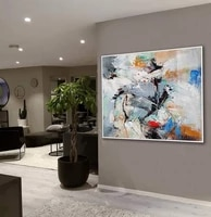 large canvas painting wall art abstract artwork modern palette knife art work office living room decor handmade acrylic painting