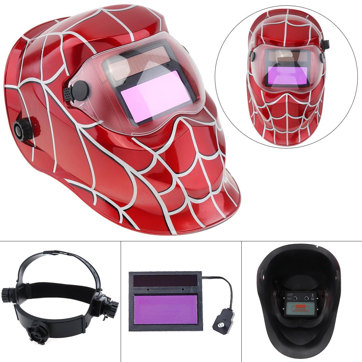 Сварочный шлем Автоматическая Замена Сварочная маска повязка Сварочная маска TIG маска-110 Красный сварочная маска зубр 11075