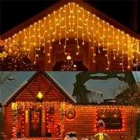 led fairy curtain string light waterfall lights with 8 modes controller for indoor outdoor patio wedding christmas party holiday