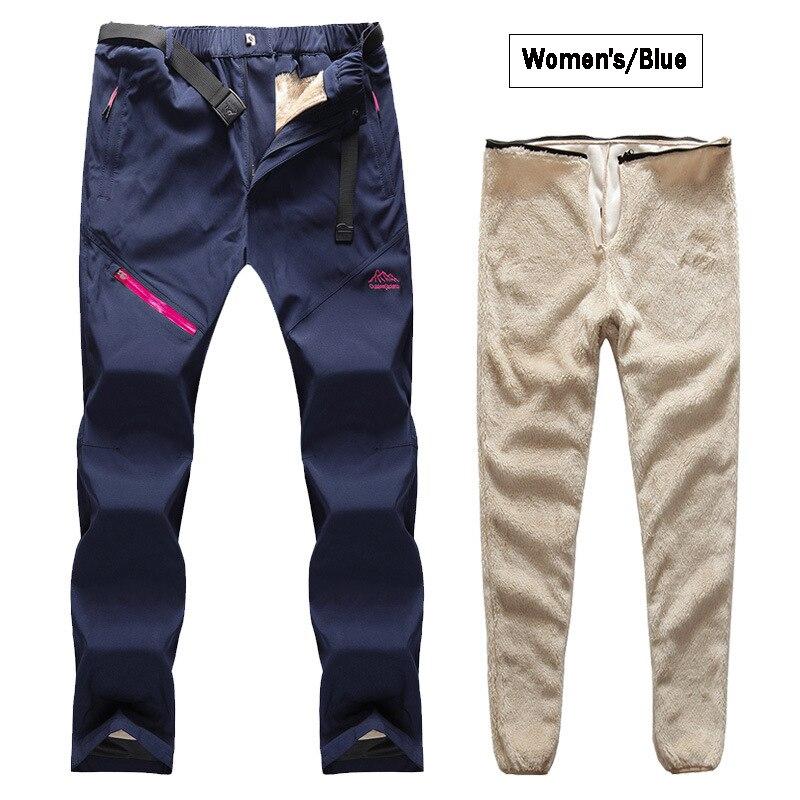 Assault pants men's detachable two-piece suit plus velvet waterproof hiking pants couple outdoor lamb velvet liner ski pants