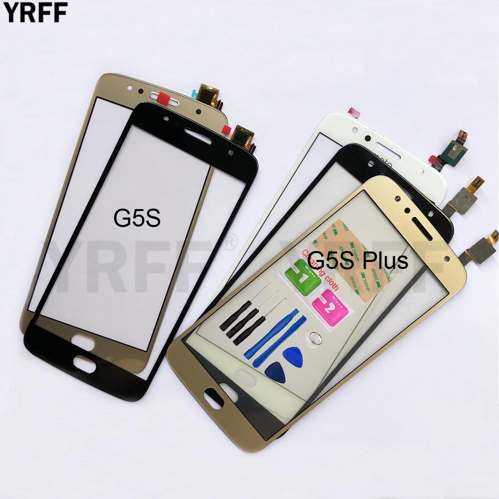 Para Motorola Moto G5S Plus pantalla táctil de cristal para Moto G5S Plus pantalla táctil digitalizador pantalla frontal de cristal