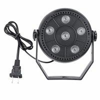 3in1 RGB Stage Lighting Flat Par Lamp LED Stage Light Effect Led Par Light KTV Bar Party Backlight Beam Projector Spotlight