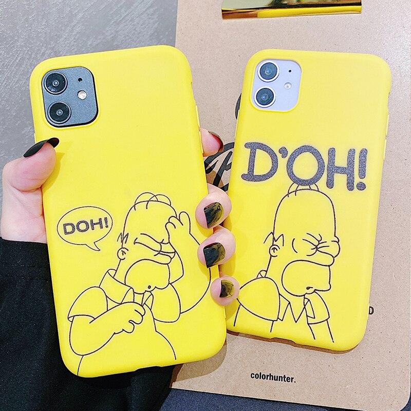 Simpsons Homer J Bart étui de téléphone pour Huawei P30 P20 P10 Pro Lite Plus étuis en Silicone givré couverture arrière souple