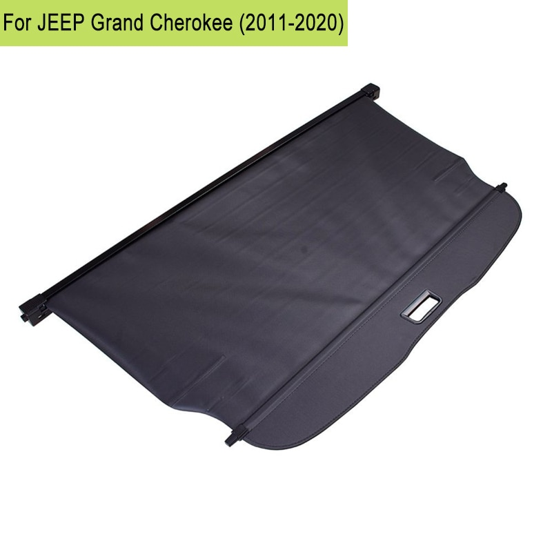 car rear trunk security shield cargo cover for toyota land cruiser prado 120 2003 2009 high qualit trunk shade security cover Car Rear Trunk Security Shield Cargo Cover Black Retractable Trunk Shade Shield Curtain For JEEP Grand Cherokee 2011-2020