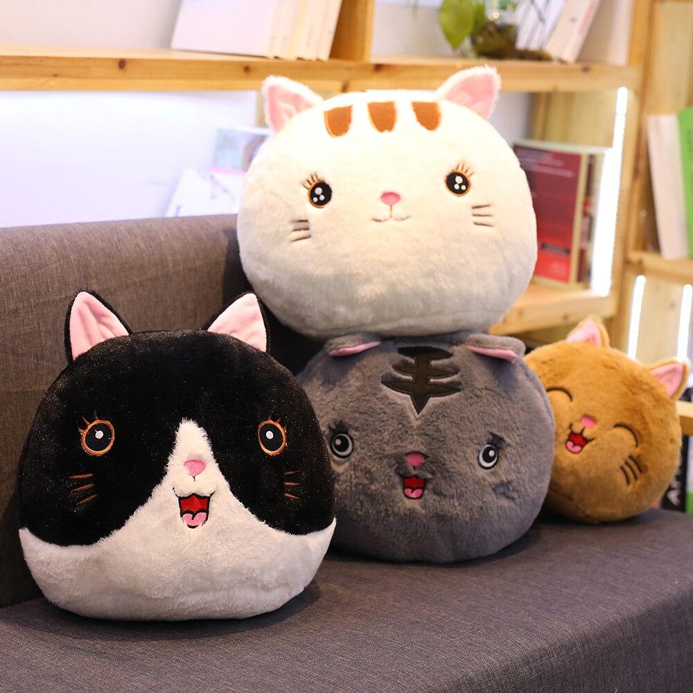 Бесплатная доставка, милая кошка, плюшевые игрушки, мягкие кошки, подушка, милое животное, Детская кукла, мягкие Мультяшные игрушки, рождест...