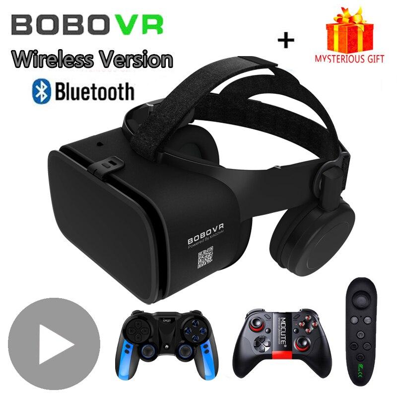 Bobovr Bobo VR Z6 смарт 3 D шлем Viar Bluetooth 3D очки виртуальной реальности гарнитура шлем очки линзы для телефона смартфона