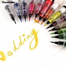 1 pièce Zig Kuretake MS-55 clin doeil de Stella paillettes pinceau stylo multicolore brillant coloré doux Bling brosses calligraphie lettrage stylos