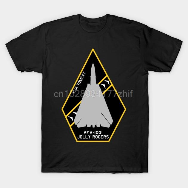 Camiseta para hombre VFA 103 Jolly Rogers F 14 Tomcat Jet Aircraft parche de diseño camiseta para mujer