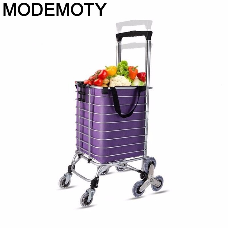 Koszyk-Carro De almacenamiento Plegable para Mesa, carrito De la compra con Carro...