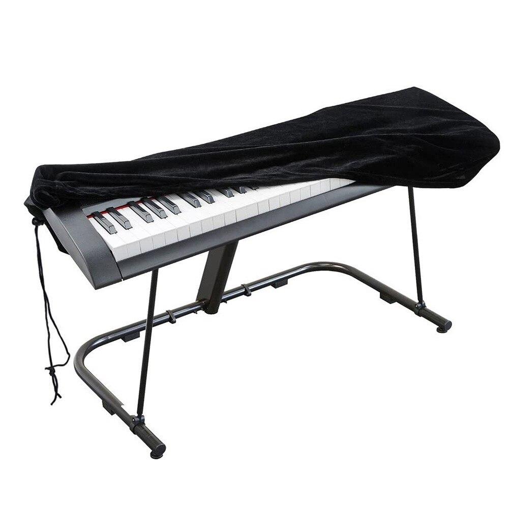 Пылезащитный чехол черного цвета для электронной клавиатуры пианино с 88 клавишами, чехол из полиэстера для защиты клавиатуры, аксессуар дл...