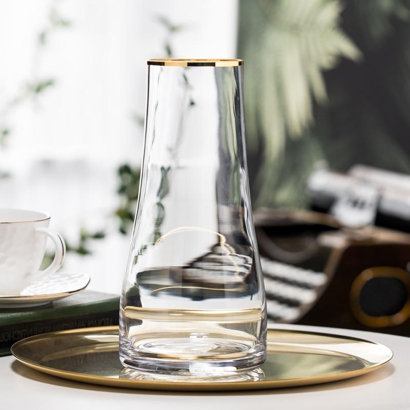 Florero de Cristal minimalista para plantas, jarrón de flores secas, transparente, hidropónico,...