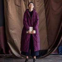 luxury womens goose down coats miegofce 2019 winter outwear casual warm top brands jackets plus size purple long loose
