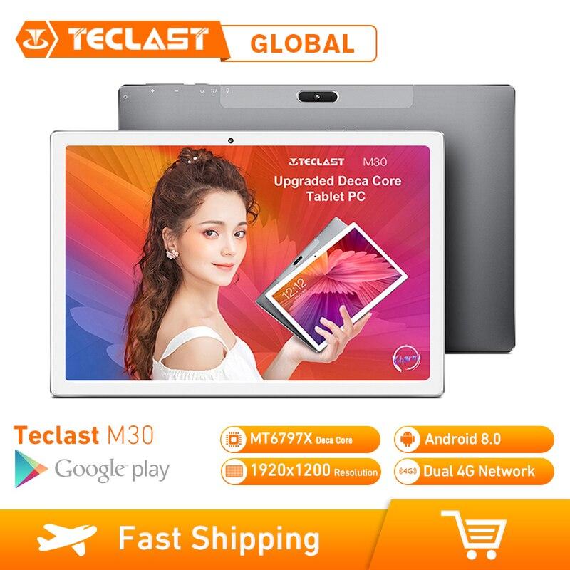 Teclast M30 10,1 pulgadas 4G Phablet tabletas Android 8,0 3GB RAM 64GB ROM 1920x1200 Tablet PC MT6797 X27 Deca Core 7500mAh GPS