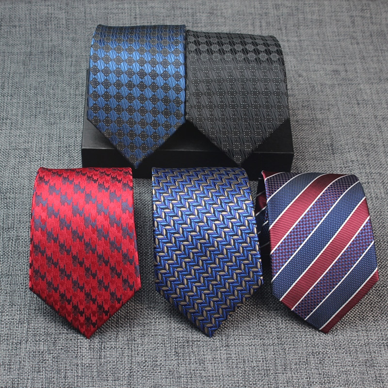 8CM Mens Ties Stripes Corbatas For Wedding Party Paisley Jacquard Gravata Formal Dress Necktie Neck ties For Men Neckwear Groom
