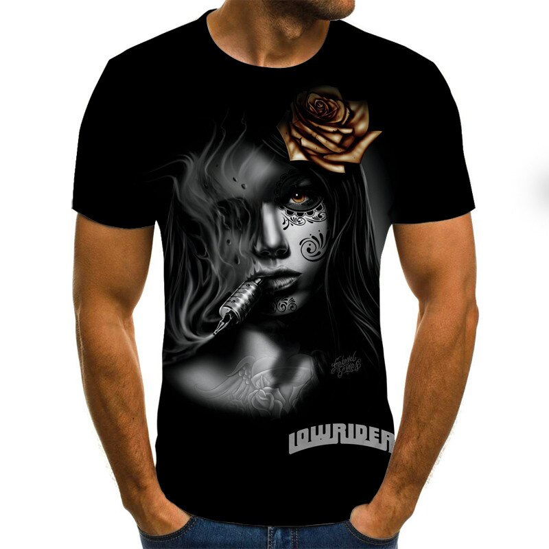 Novedad 2020, camiseta 3D, camiseta de moda de verano en 3D para hombre, ropa de Hip-Hop para hombre, camiseta para hombre, camisa con tinte de corbata, ropa de Anime