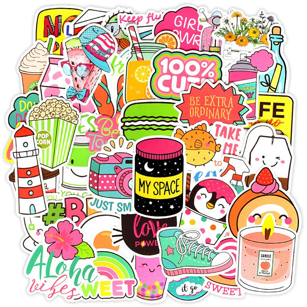 Kuulee 50 Uds pegatinas de grafiti de estilo femenino para computadora, Maleta, refrigerador, muebles de coche