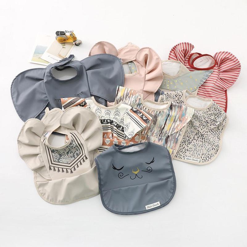 Детские Мультяшные нагрудники слюнявчик полотенце кармашек для риса новорожденных для малышей мешок для кормления поставки водонепроница...