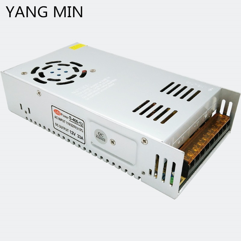 YANG  MIN Free Shipping Wholesale 400W 500W 600W 700W 800W Constant Voltage 12V Power Adapter 24V Power Supply for Led Strip enlarge