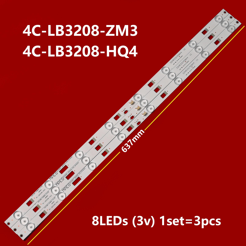 3piece/lot Brand new customized TCL 32HR331M08A4 V1 D32E161 D32E167 L32F1600E lamp 32HR331M08A4 V0V1