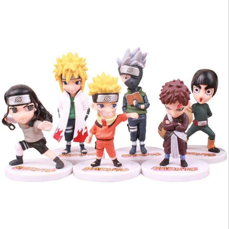 Экшн-фигурка удзумаки Наруто из ПВХ, модель в стиле аниме, хатакэ Какаси, Q-версия, статуя Наруто, коллекционные игрушки, подарок для детей
