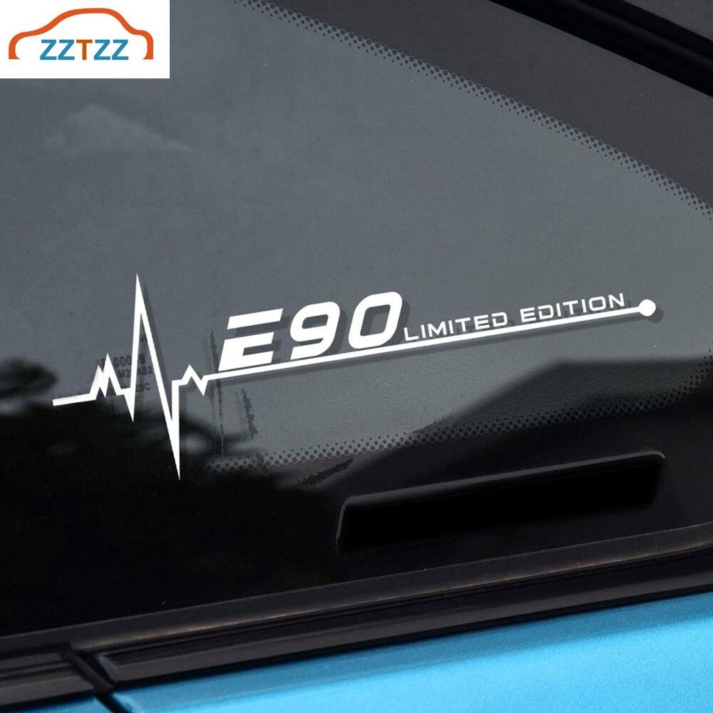 1 Uds lado del coche pegatinas, calcomanías de ventana para BMW E28 E30 E34 E36 E39 E40 E53 E60 E61 E62 E70 E87 E90 E91 E92 E93 accesorios de coche