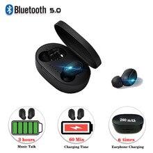 Mi ni kablosuz bluetooth 5.0 kulaklık Xiao mi mi 5 5x5 s 6 6x 6a 6pro 8 se 9 se max 2 max 3 şarj kutusu ile Stereo kulaklık