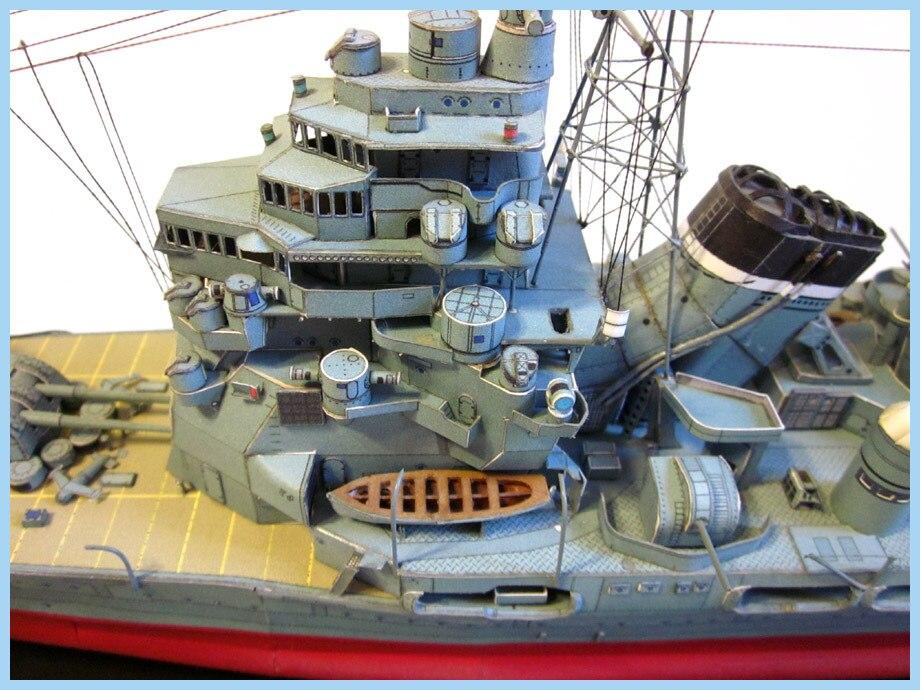 1250 japonês kaohsiung classe pesado cruiser takao modelo de papel artesanal diy