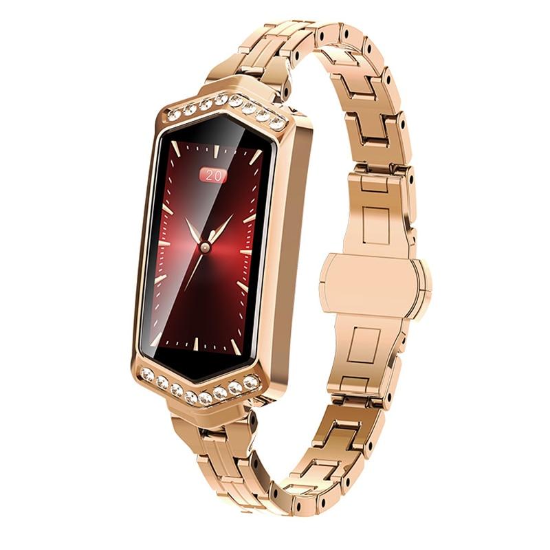B78 Fashion Women Smart Wristband Watch PC Glass Sleep Heath Sport ,Monitoring reloj inteligente Andriod Apple Bracelet