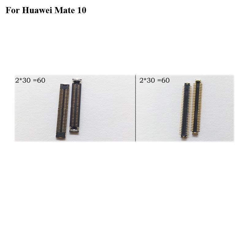 2 pçs conector da doca micro usb porta de carregamento fpc conector para huawei companheiro 10 lógica em placa-mãe mainboard para huawei mate10