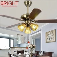 bright ceiling fan light modern simple lamp with straight blade remote control for home living room