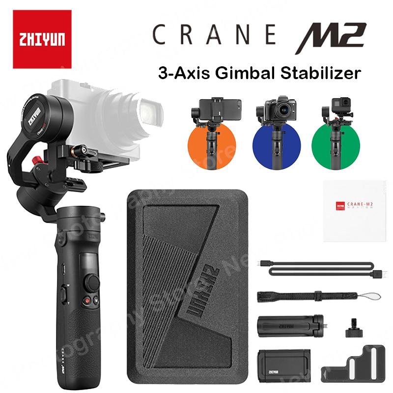 الهاتف الذكي ZHIYUN رافعة M2 ذو 3 محاور مثبتات انحراف محمول باليد لكاميرات الأكشن عديمة المرآة iPhone وأندرويد الهاتف الذكي max451 500g