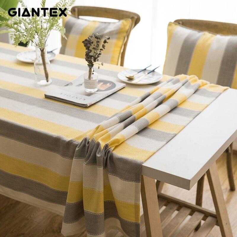 Mantel de mesa decorativo impermeable GIANTEX, mantel Rectangular para mesa de comedor