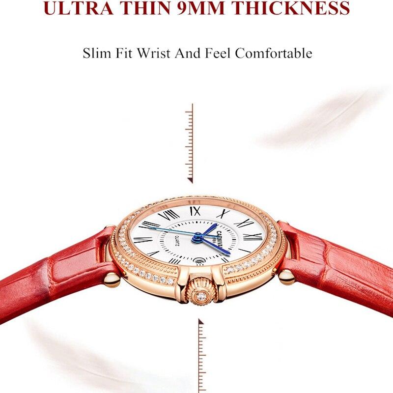 CARNIVAL Luxury Brand Fashion Watch Woman Waterproof Rose Gold Calendar Casual Bracelet Quartz Wristwatch Clock Relogio Feminino enlarge