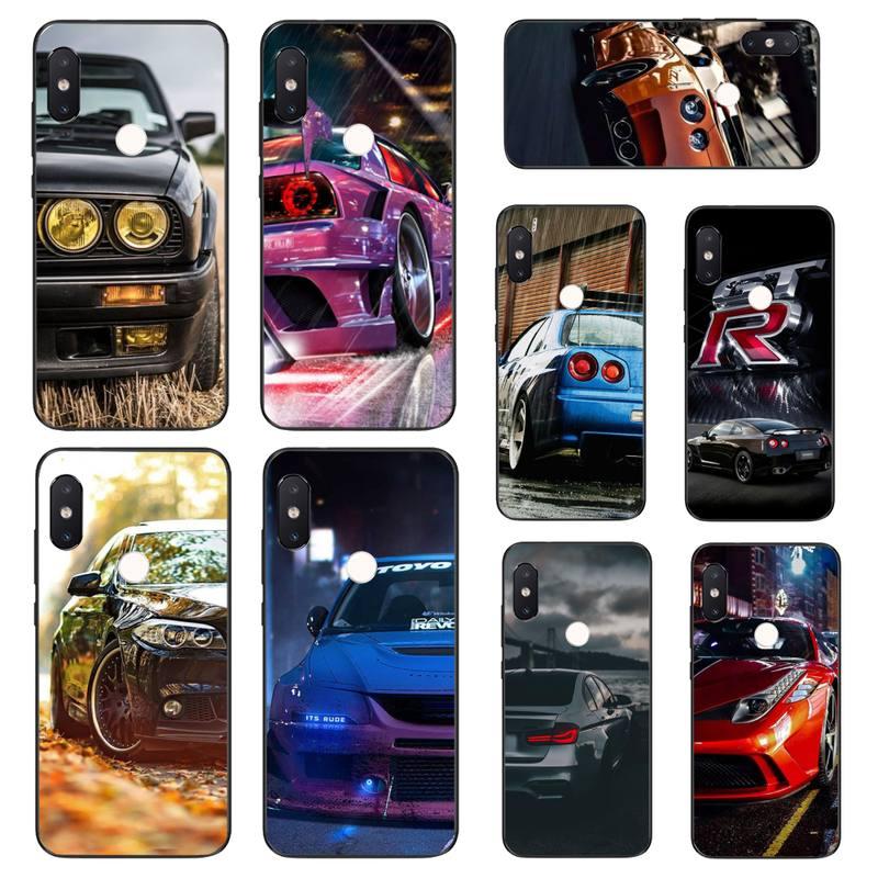 YNDFCNB genial diseño de coche deportivo negro suave funda de teléfono para Xiaomi Mi8 9 10 9T 5 6 A1 A2Lite 9SE 8SE Mi8lite Mix2 Max3 F1