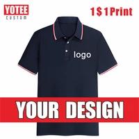 yotee2021 new short sleeve polo cheap company group custom embroidery fashion business custom short sleeve polo shirt
