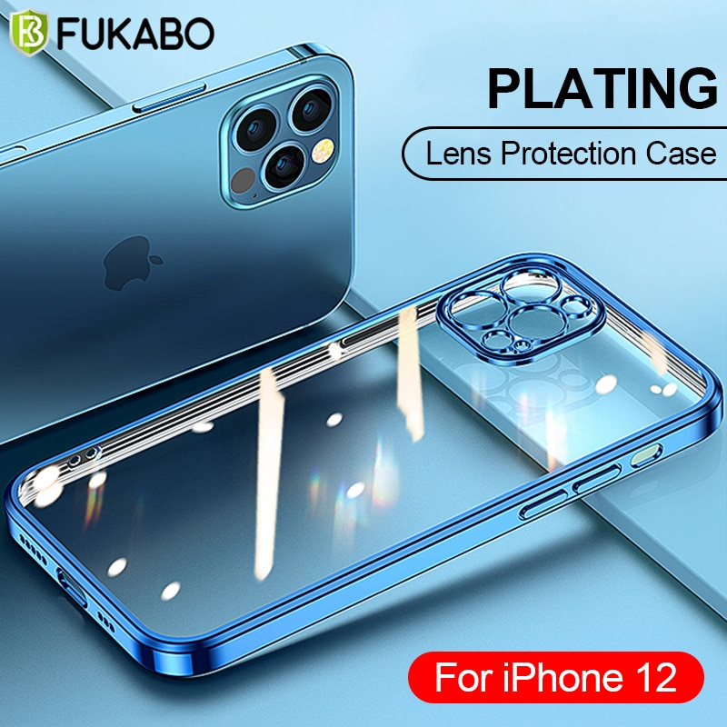 Luxury Square Frame Plating Phone Case For iPhone 11 12 Pro Max XS XR X 12 Mini 7 8 6 6S Plus SE 202