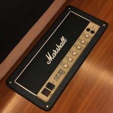 Cool Marshall guitare moderne imprimé flanelle zone tapis imprimé salle zone tapis tapis de sol pour salon chambre maison décorative