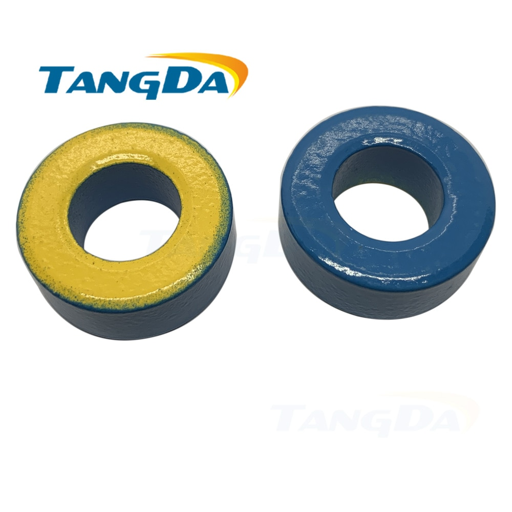T37-17 hierro polvo núcleo T37 17 OD * ID * HT9.5 * 5,2*3,3mm 1. 5nH/N2 4ue hierro polvo núcleo Toroide ferrita Toroide toroidal azul amarillo PRN