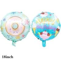 5pcs 18 inch donut balloon ice cream happy birthday balloon baby shower wedding birthday party decoration balloon