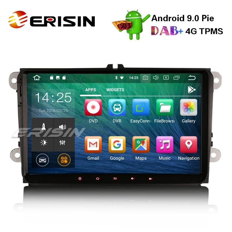 "Erisin ES4818V 9 ""Android 9,0 coche estéreo DAB + unidad para VW Passat Golf Touran Eos Polo Seat"