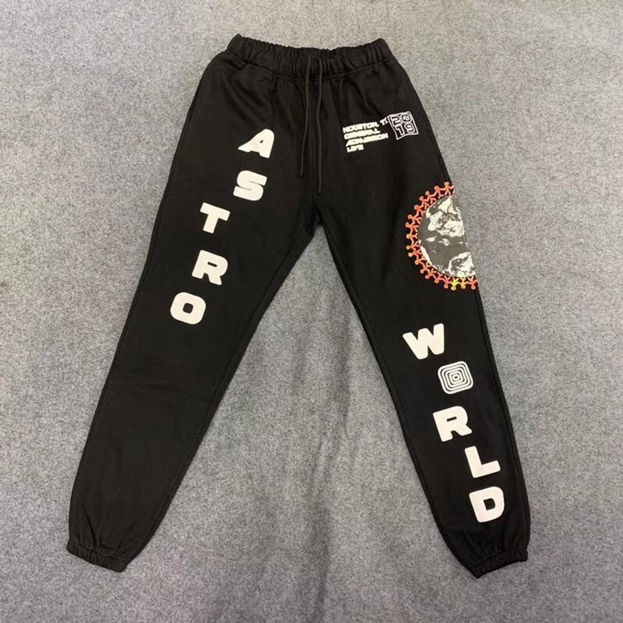 ترافيس سكوت الصبار جاك مهرجان مجسم للكرة الأرضية على حامل معدني Sweatpants النساء الرجال 1:1 عالية الجودة أستروورلد الرباط الركض السراويل بنطلون