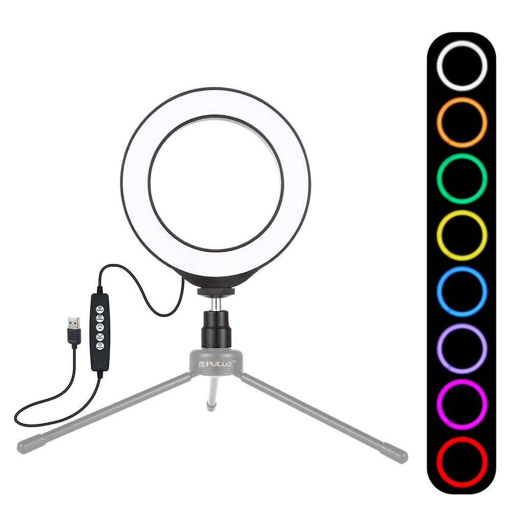 Anel de luz 4.7 polegada pode ser escurecido rgb anel luz para maquiagem vídeo desktop led anel luz para samsung para huawei para xiaomi para iphone