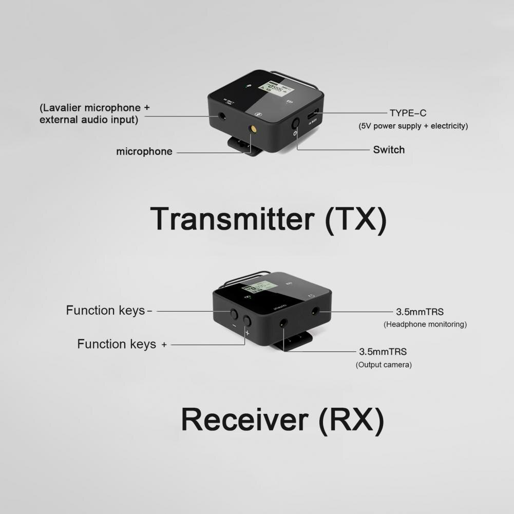 Feidu FM40 UHF Portable Mini Wireless Lavalier Mic for Smartphone DSLR Camera enlarge