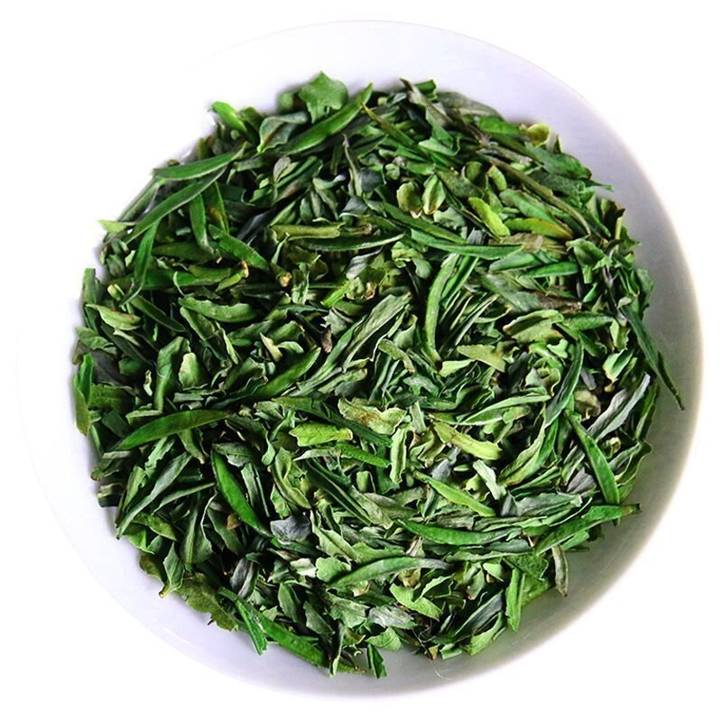 2019 China Queshe Buxus debris tea Delicious alta calidad Que she longzhou debris tea dragón well té verde chino Long Zhou