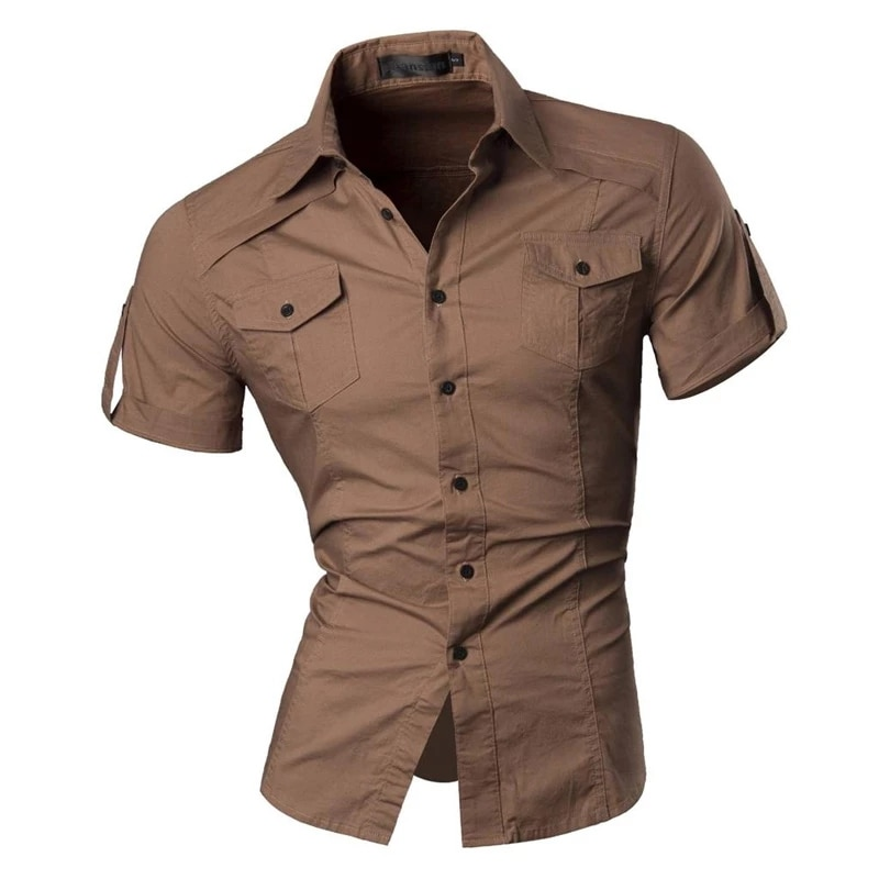 2021 Camiseta de manga corta con solapa de Escocia para hombre superior...