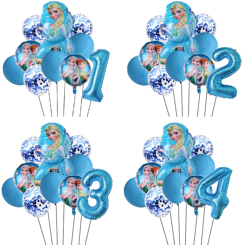 10pcs Elsa Disney Frozen Princes Helium Balloons 32inch Number Baby Shower Happy Birthday Party Decorations Kids Toys Girl Gifts
