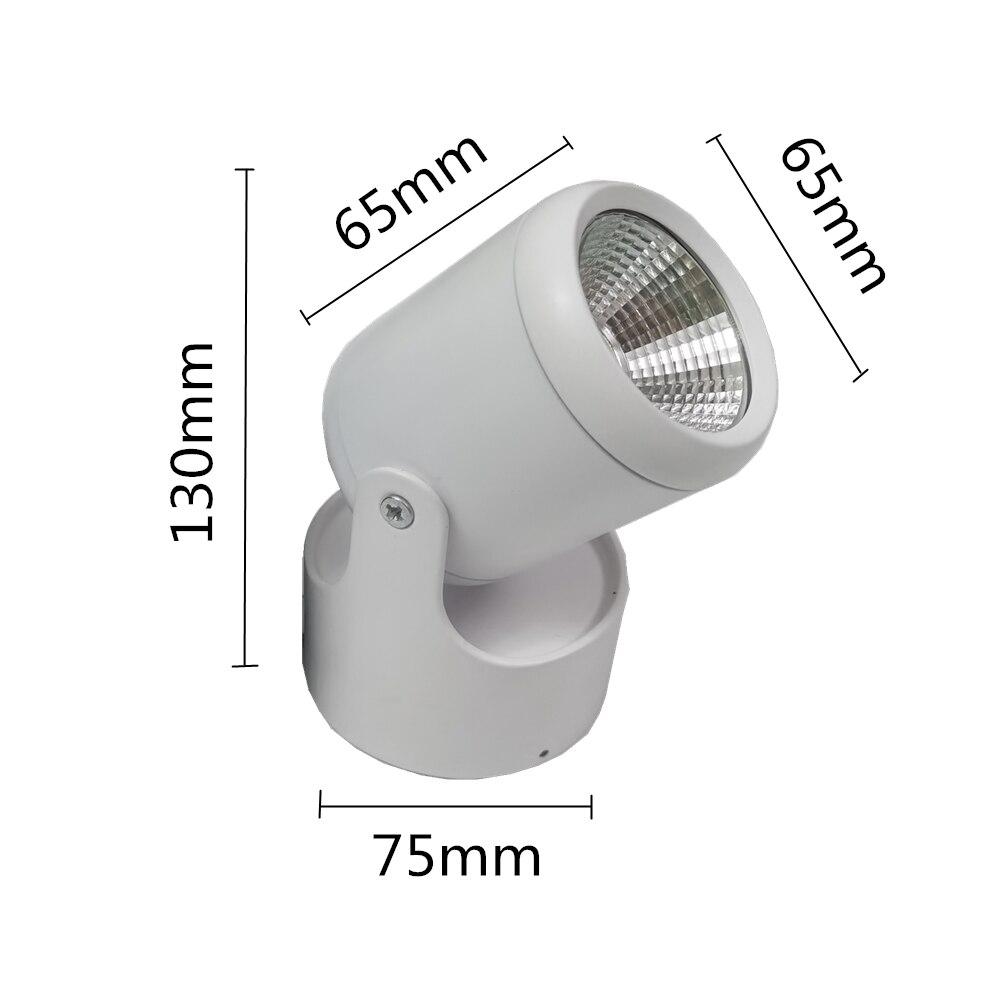 Hohe qualität Dimmbare Rotating LED Downlights Oberfläche Montiert einstellung COB AC85-265V 5W 10W 15W LED Decke Lampe spot lichter